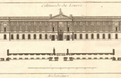 Architecture - 1779 - Architect's Drawing - Antique Blueprint - Colonnade du Louvre
