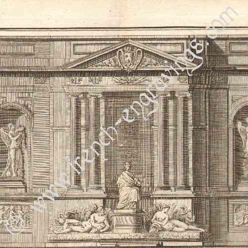 gravures anciennes architecture 1779 dessin d 39 architecte paris fontaine de grenelle. Black Bedroom Furniture Sets. Home Design Ideas