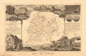Map of France - 1850 - Cantal (De Pradt - Du Belloy)