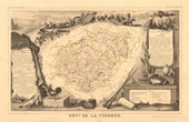 Map of France - 1850 - Corr�ze
