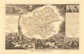 Map of France - 1850 - Loire-Atlantique - Loire-Inf�rieure (Cambronne - Abelard)