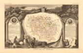 Map of France - 1850 - Creuse (Quinault - D'Aubusson)