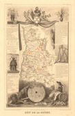 Map of France - 1850 - Drôme (Championnet)