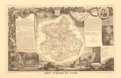 Map of France - 1850 - Eure-et-Loir (Chauveau-Lagarde - Marceau)