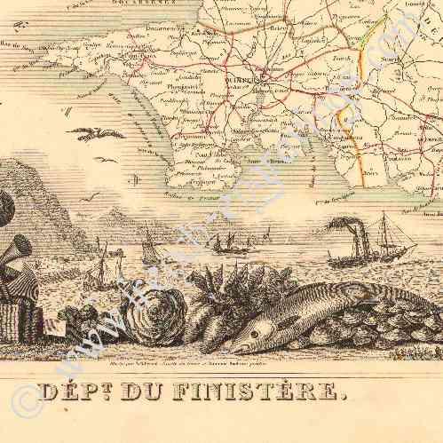 Carte France 1850 Carte de France 1850