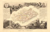 Map of France - 1850 - H�rault (Cambac�r�s)