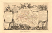 Map of France - 1850 - Loiret (Coligny)