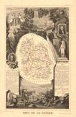 Map of France - 1850 - Lozère (Guérin - Chaptal - Rivarol)