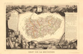 Map of France - 1850 - Meurthe-et-Moselle (Drouot - Callot)