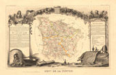 Map of France - 1850 - Ni�vre (Adam - Dupin)