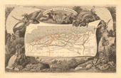 Antique Map of Algeria - Former French colony