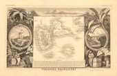 Map of France - 1850 - Guadeloupe (Lethière - Campenon)