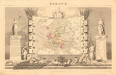 Alte Plan von Europa - 1850