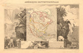 Antique Map of Northern America - 1850