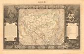 Alte Plan von Asien - 1850