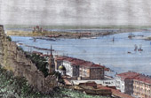 View - Confluence of Oka and Volga - Nizhny Novgorod (Russia)