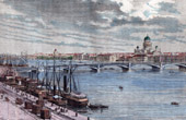 View of Saint Petersburg - Quays of Neva River (Russia)