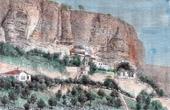 View of Djoufout-Kaleh Caves (Crimea)