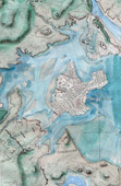 Antique Map of Boston - Charlestown - Dorchester - Roxbury - Cambridge - Massachusetts (United States of America)