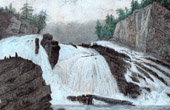 View of Adleys Falls - Hudson - New York state (United States of America)