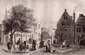 View of Albany - House of the Dutch Governor - New York (United States of America)