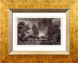 Disaster of Vioming - Conflagration - Burning - Aboriginal peoples (United States of America)