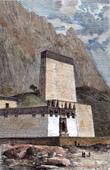 Ansicht von Tashilumpokloster zu Shigatsé (Tibet)