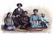 Typische Kleidung - Dungan und Taranchi - Xinjiang - Turkestan (China)