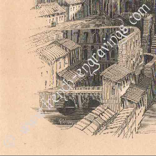 gravures anciennes vue de tol de castille la manche. Black Bedroom Furniture Sets. Home Design Ideas
