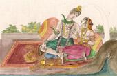Hindu deities - Mahadeva - Shiva and Parvati (India)