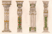 Architecture - Decoration - Columns - Chandravati (India)