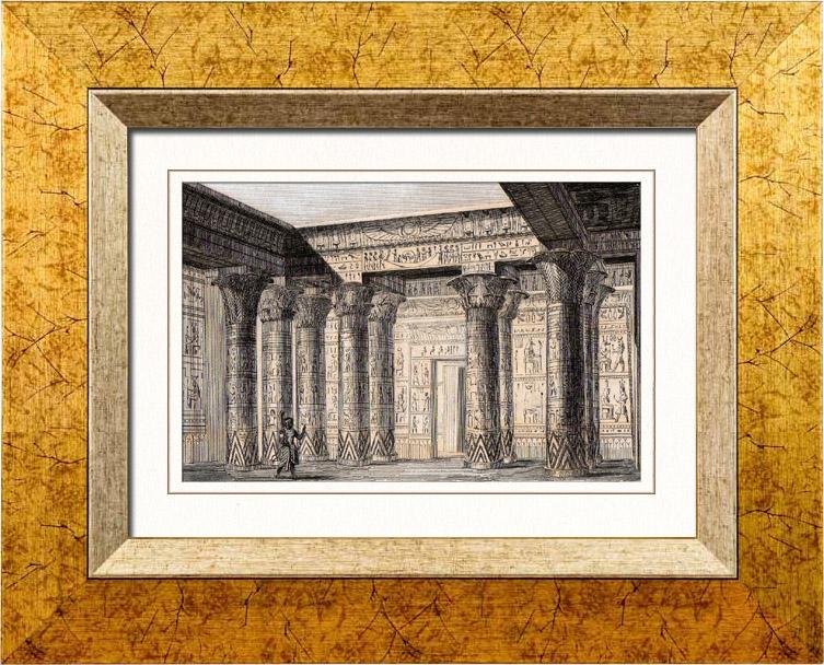 gravures anciennes gravure de egypte antique. Black Bedroom Furniture Sets. Home Design Ideas