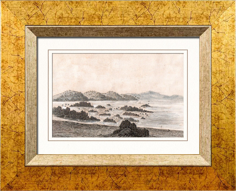 Antique Prints & Drawings | View of Nile Cataracts - Waterfall (Egypt) | Intaglio print | 1848