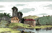 View - Tower of Ch�lus  - Death of Richard the Lionheart - Limousin (Haute-Vienne - France)