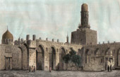 View of the Cairo - Ancient Mosque of Calife El Hakem - Bab al-Nasr (Egypt)