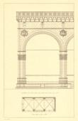 Architect's Drawing - Italy - Florence - Loggia dei Lanzi - Loggia della Signoria