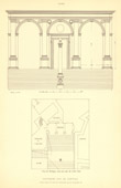 Architect's Drawing - Italy - Rome- Portico - Capitoline Hill