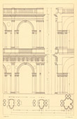Architect's Drawing - Italy - Vicenza - Basilica Palladiana (Andrea Palladio)
