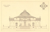 Architect's Drawing - Italy - Vicenza - Villa Capra