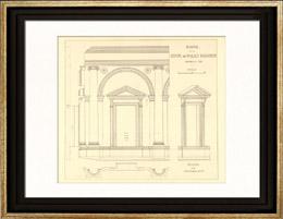 Stampe antiche stampa di disegno di architetto italia - Architetto palazzo congressi roma ...