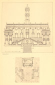 Architect's Drawing - Italy - Rome - Piazza del Campidoglio
