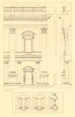 Architect's Drawing - Italy - Rome - Piazza del Campidoglio - Palazzo Senatorio