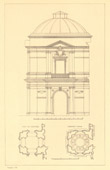 Architect's Drawing - Apostolic Palace - Papal Palace - Vatican - Belvedere (Camporesi)