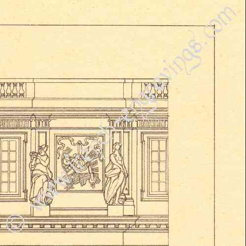 gravures anciennes dessin d 39 architecte france ch teau de versailles hardouin mansart. Black Bedroom Furniture Sets. Home Design Ideas