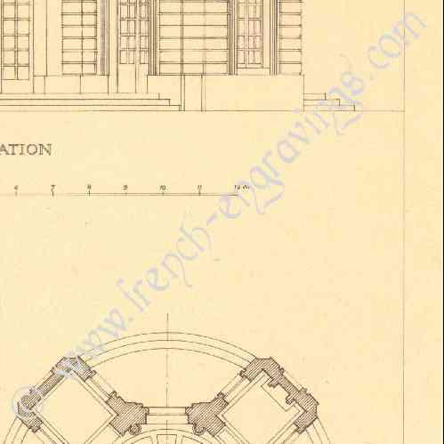 Gravures anciennes dessin d 39 architecte france for Architecte jardin versailles