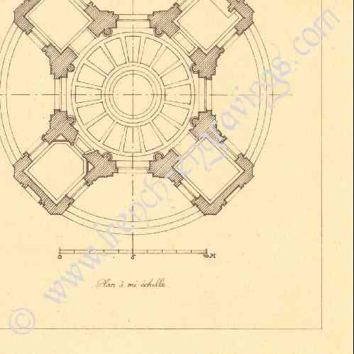 Gravures anciennes gravure de dessin d 39 architecte for Architecte jardin versailles