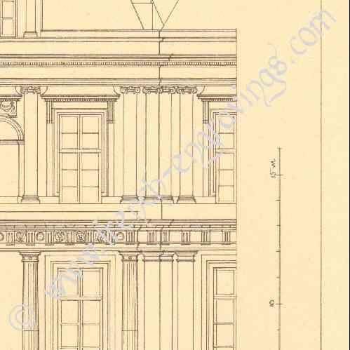 Gravures anciennes dessin d 39 architecte france for Architecte maisons laffitte