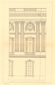 Architect's Drawing - France - Paris - Louvre Palace (Claude Perrault)