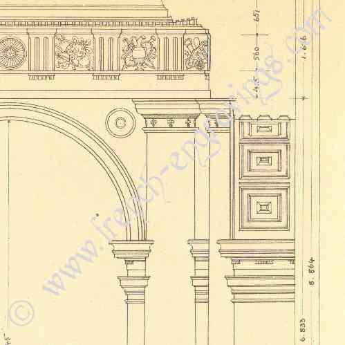Stampe antiche disegno di architetto italia roma - Architetto palazzo congressi roma ...