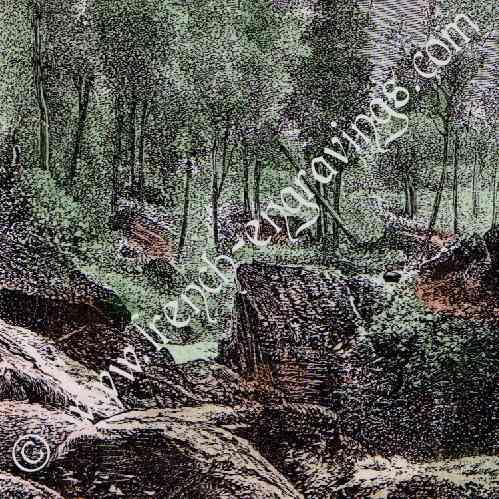 gravures anciennes paysage de ceylan sri lanka ramboda gravure sur bois 1883. Black Bedroom Furniture Sets. Home Design Ideas